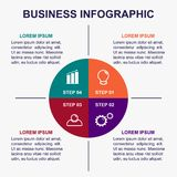 Business infographic template. royalty free stock photos