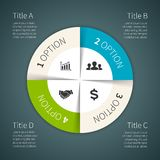 Vector circle infographic, diagram, presentation. Layout for your options or steps. Abstract template for background Royalty Free Stock Photo