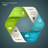 Vector circle infographic, diagram, presentation. Royalty Free Stock Images