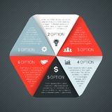 Vector circle infographic, diagram, presentation. Layout for your options or steps. Abstract template for background Stock Photo