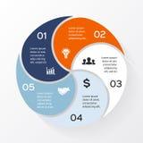 Vector circle infographic, diagram, presentation. Stock Image