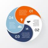 Vector circle infographic, diagram, presentation. Stock Photos