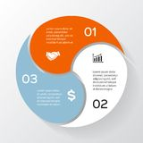 Vector circle infographic, diagram, presentation. Layout for your options or steps. Abstract template for background Stock Images