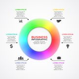 Vector circle infographic, diagram, presentation. Stock Photography