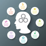 Vector circle infographic. Royalty Free Stock Images