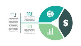 Vector circle infographic with 3 options. Cycle diagram Royalty Free Stock Image