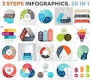 Vector circle infographic set. Business diagram, arrows graph, startup logo presentations, idea pie chart. Data options Stock Photo