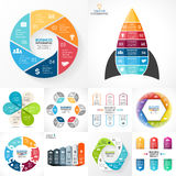 Vector circle infographic set. Business diagrams. Layout for your options or steps. Abstract template for background vector illustration