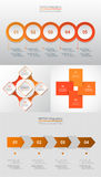 Vector circle infographic set. Royalty Free Stock Images