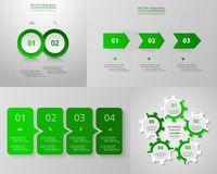 Vector circle infographic set. Royalty Free Stock Photo