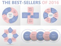 Vector circle infographic set. Royalty Free Stock Image