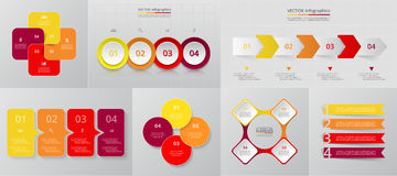 Vector circle infographic set. Royalty Free Stock Photos
