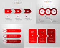 Vector circle infographic set. Stock Image