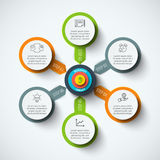 Vector circle infographic. Royalty Free Stock Photography