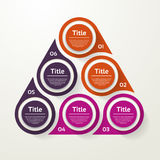 Vector circle infographic. Template for cycle diagram, graph, pr Royalty Free Stock Photo