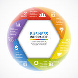 Vector circle infographic. Template for cycle diagram, graph, presentation and round chart. Business concept with 6. Layout for your options or steps. Abstract Stock Images