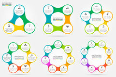 Vector circle infographic. Template for cycle diagram, graph, presentation and round chart. Business concept with 3, 4, 5, 6, 7 and 8 options, parts, steps or