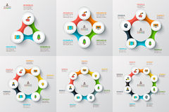 Vector circle infographic. vector illustration