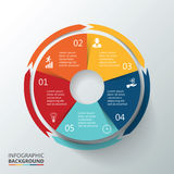 Vector circle infographic. stock illustration