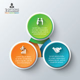 Vector circle infographic. Stock Images