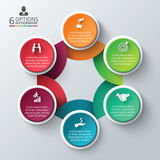 Vector circle infographic. Stock Image