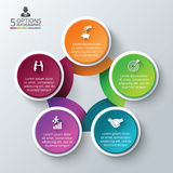 Vector circle infographic. Royalty Free Stock Image
