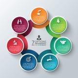 Vector circle infographic. Stock Photos