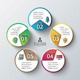 Vector circle infographic. Royalty Free Stock Photo