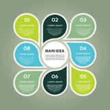 Vector circle infographic. Template for cycle diagram, graph, presentation and round chart. Business concept with 8 options, parts, steps or processes vector illustration
