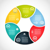 Vector circle infographic.. Template for cycle diagram, graph, presentation and round chart. Business concept with 6  options, parts, steps or processes Royalty Free Stock Image