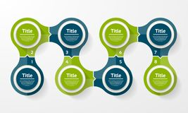 Vector circle infographic. Template for cycle diagram, graph, presentation and round chart. Business concept with 8 options, parts. Steps or processes royalty free illustration