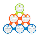 Vector circle for infographic. Template for cycling diagram, graph, presentation and round chart. Business concept with options, parts, steps or processes Stock Photo
