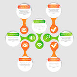 Vector circle for infographic. Template for cycling diagram, graph, presentation and round chart. Business concept with options, parts, steps or processes Stock Photography