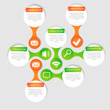 Vector circle for infographic. Royalty Free Stock Photography