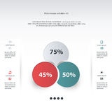 Vector circle infographic. Template for diagram, graph, presenta Royalty Free Stock Image