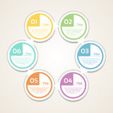 Vector circle infographic. Template for diagram, graph, presentation and chart. Business concept with 6 cyclic options, parts, ste. Ps or processes. Abstract Stock Photography