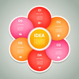 Vector circle infographic. Template for diagram, graph, presentation and chart. Royalty Free Stock Images