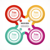 Vector circle infographic. Template for diagram, graph, presentation and chart. Business concept with four options, parts, steps o. R processes. Abstract Stock Photography