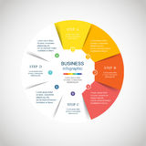Vector circle infographic Stock Images