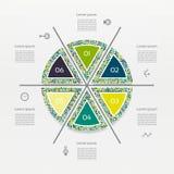 Vector circle infographic Stock Photo