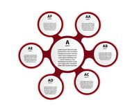 Vector circle infographic. Template for diagram, graph, presentation and chart. Business concept with three options, parts, steps or processes. Abstract stock illustration