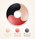 Vector circle infographic. Template for diagram, graph, presentation and chart. Business concept with three options, parts, steps. Or processes. Abstract Stock Photo