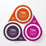 Vector Circle Infographic. Template For Diagram, Graph, Presentation And Chart. Business Concept With Three Options, Parts, Steps Royalty Free Stock Photos