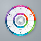 Vector circle infographic template for graphs stock illustration