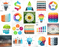 Vector circle infographics. Business diagrams, arrows graphs, blur linear presentations, idea cycle charts. Data options Stock Photos