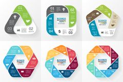 Vector circle infographics collection. Template Royalty Free Stock Images
