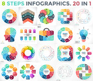 Vector circle infographics set. Business diagrams, arrows graphs, startup logo presentations and idea charts. Data. Layout for your options or steps. Abstract Royalty Free Stock Image