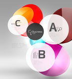 Vector circle infographics Royalty Free Stock Photos