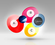 Vector circle infographics Stock Images