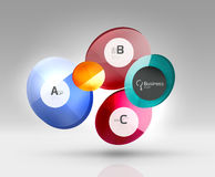 Vector circle infographics Royalty Free Stock Images